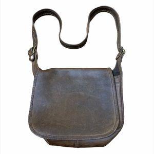 VINTAGE Coach Brown Leather Crossbody Saddle Bag